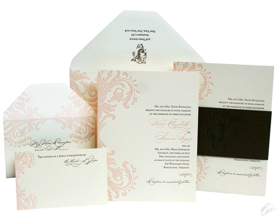 Luxury Wedding Invitations by Ceci New York - Our Muse - Satisfy your love for pink and go for a lovely palette of soft pinks and blushes for a sophisticated fresh look! - invitations, letterpress printing, wedding