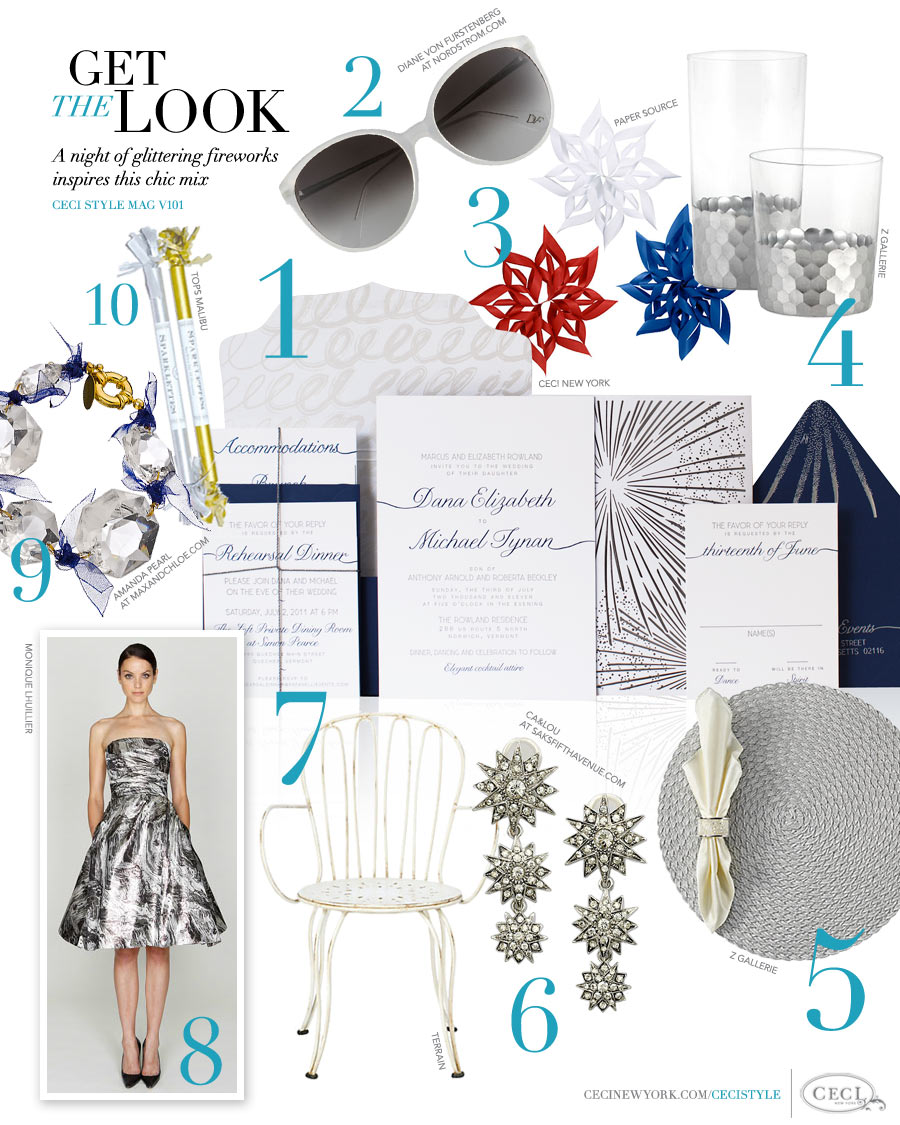 CeciStyle Magazine v101: Get The Look - Sparkle and Shine - A night of glittering fireworks inspires this chic mix
