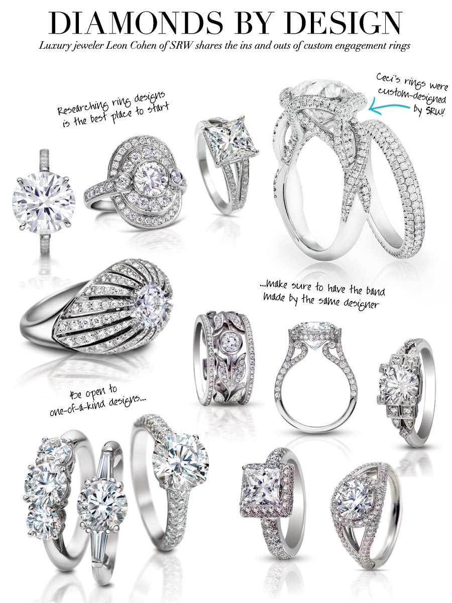 Diamonds by Design - Luxury jeweler Leon Cohen of SRW shares the ins and outs of custom engagement ring rings