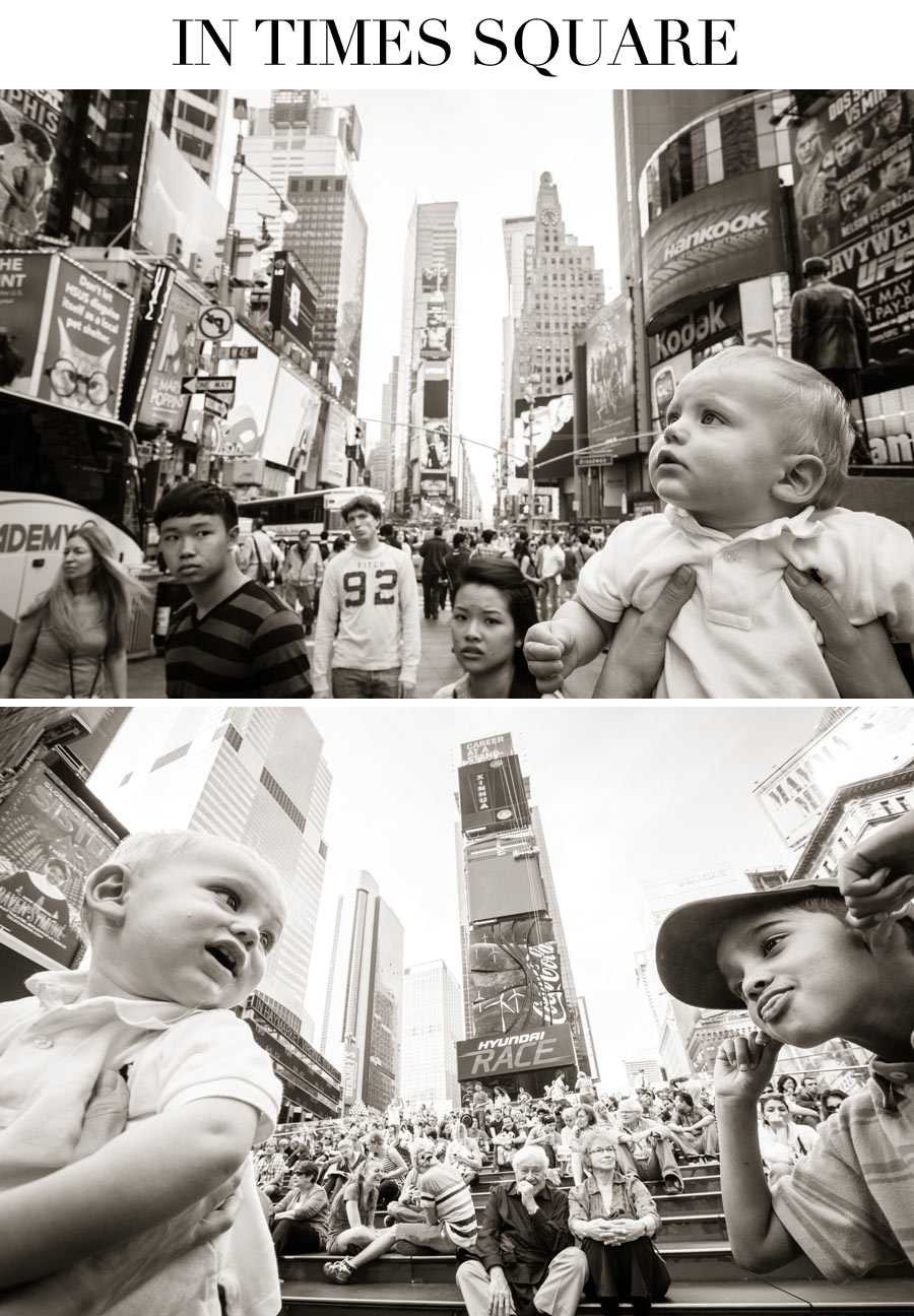 Ceci Johnson of Ceci New York - Baby Mason in the City - In Times Square