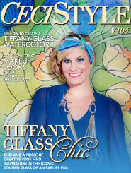 CeciStyle Magazine V104: Tiffany Glass Chic