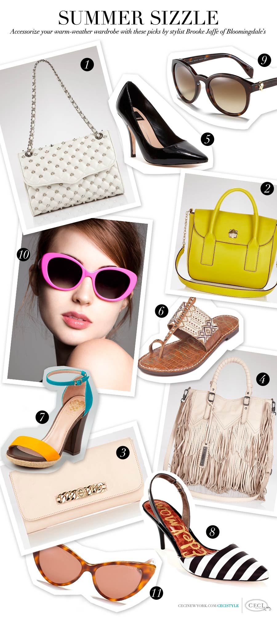 Summer Sizzle - Accessorize your warm-weather wardrobe with these picks by stylist Brooke Jaffe, Bloomingdale's