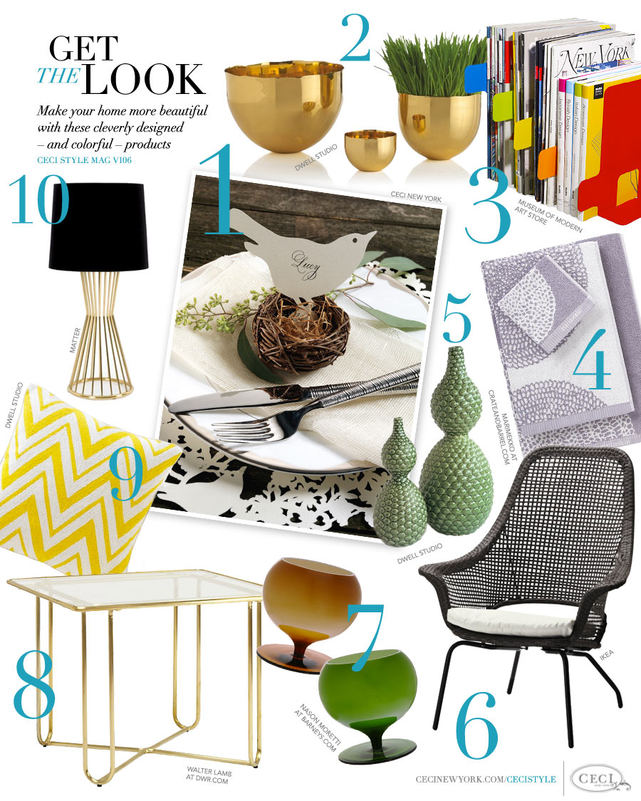 CeciStyle Magazine v106: Get The Look - The Home Issue - Make your home more beautiful with these cleverly designed - and colorful - products