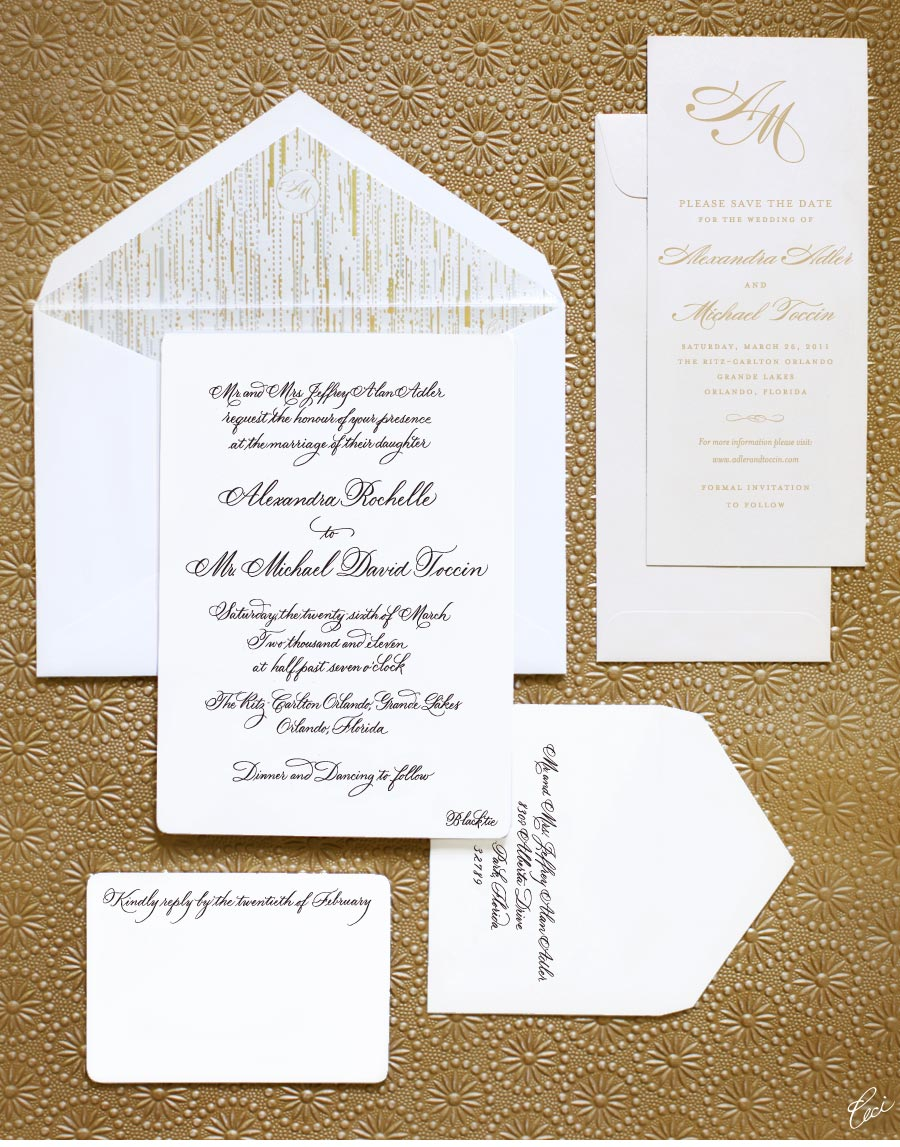 v our muse elegant classic wedding alexandra michael part 1 michaels wedding invites Luxury Wedding Invitations by Ceci New York Our Muse Elegant Classic Wedding Be