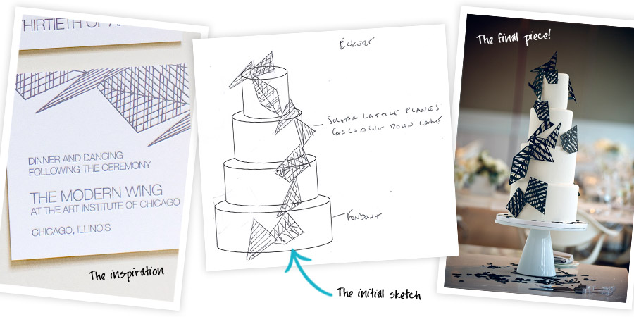 Invitation-Inspired Cake Design by Mary Winslow, Cake