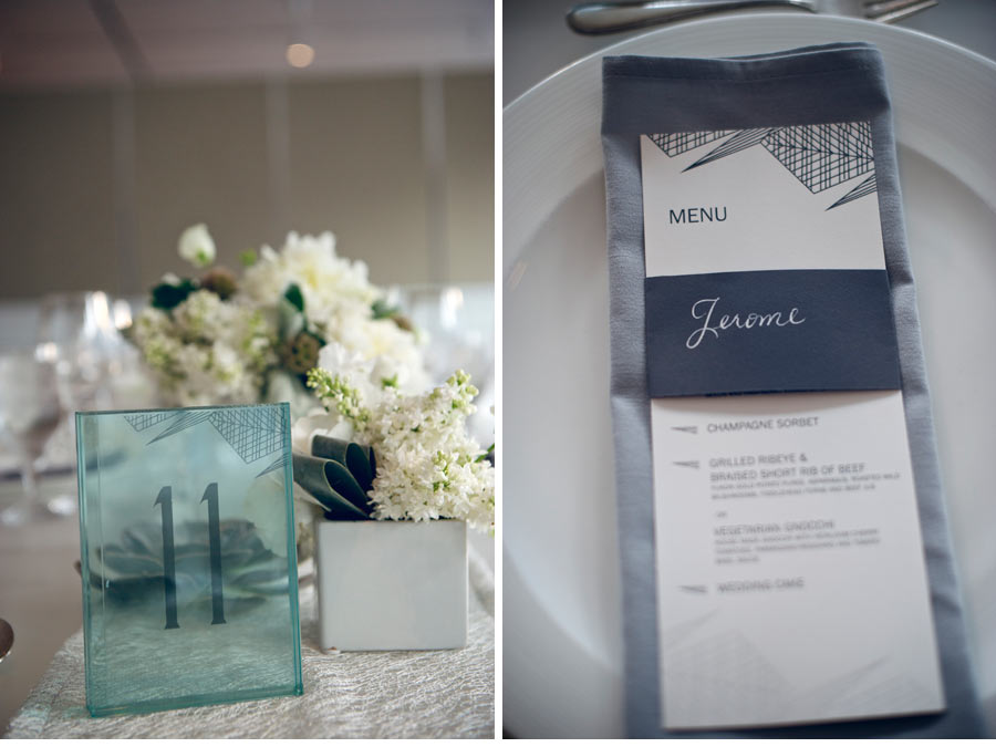 Our Muse - Modern Chicago Wedding - Be inspired by Katherine & Robert's modern wedding in Chicago - wedding, menus