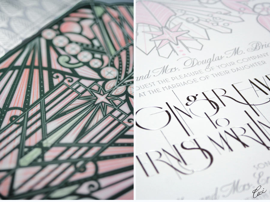 Luxury Wedding Invitations by Ceci New York - Our Muse - Soft Modern Aspen Wedding - Be inspired by Ginger & Ernest's soft, modern Aspen wedding - wedding, invitations, foil printing, letterpress printing, die-cutting, watercolor, digital printing
