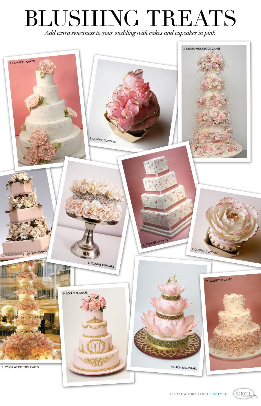 Blushing Treats - Add extra sweetness to your wedding with cakes and desserts in pink