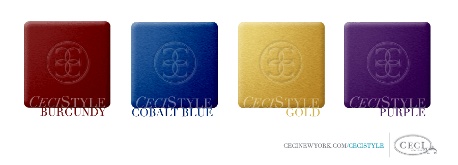 Ceci's Color Stories - Burgundy & Cobalt Blue Wedding Colors - color swatches, burgundy, cobalt blue, gold, purple, wedding