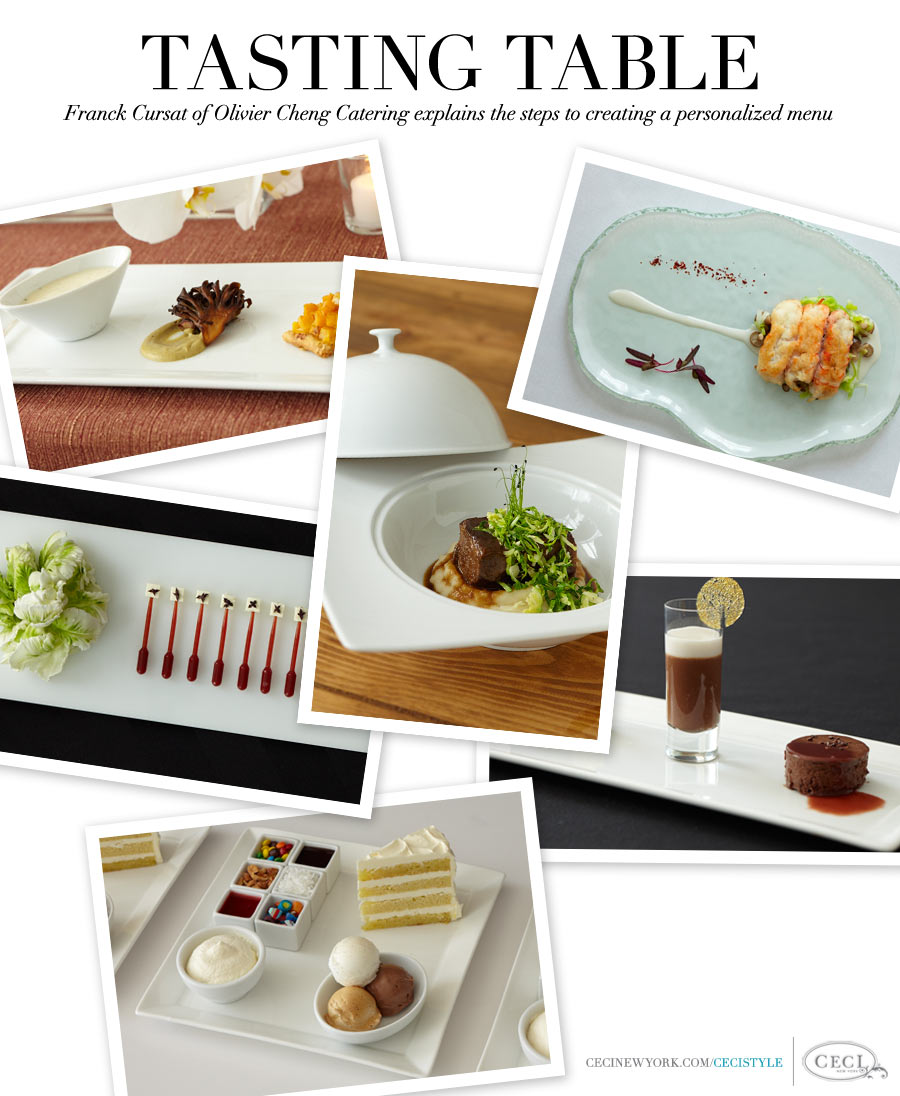 Tasting Table - Franck Cursat of Olivier Cheng Catering explains the steps to creating a personalized menu