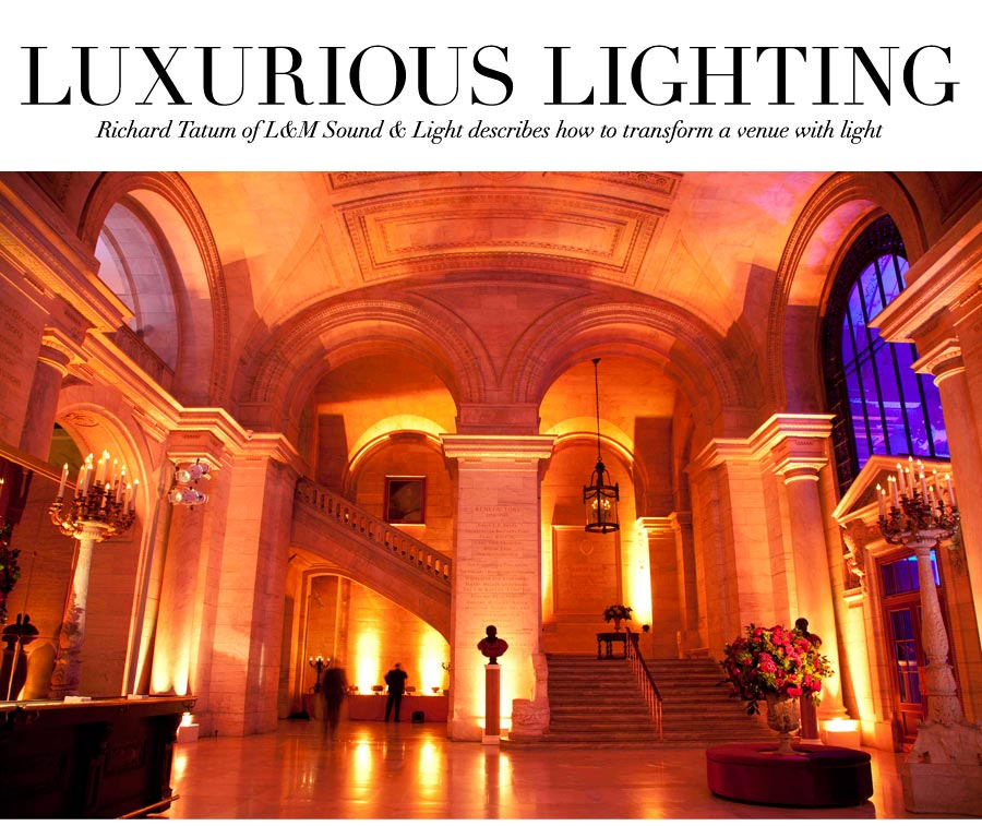 Luxurious Lighting - Richard Tatum of Lu0026M Sound u0026 Light describes how to transform a venue  sc 1 st  Ceci Style & V120: Expert Style Tips - Tips to Transform a Venue with Light by ... azcodes.com
