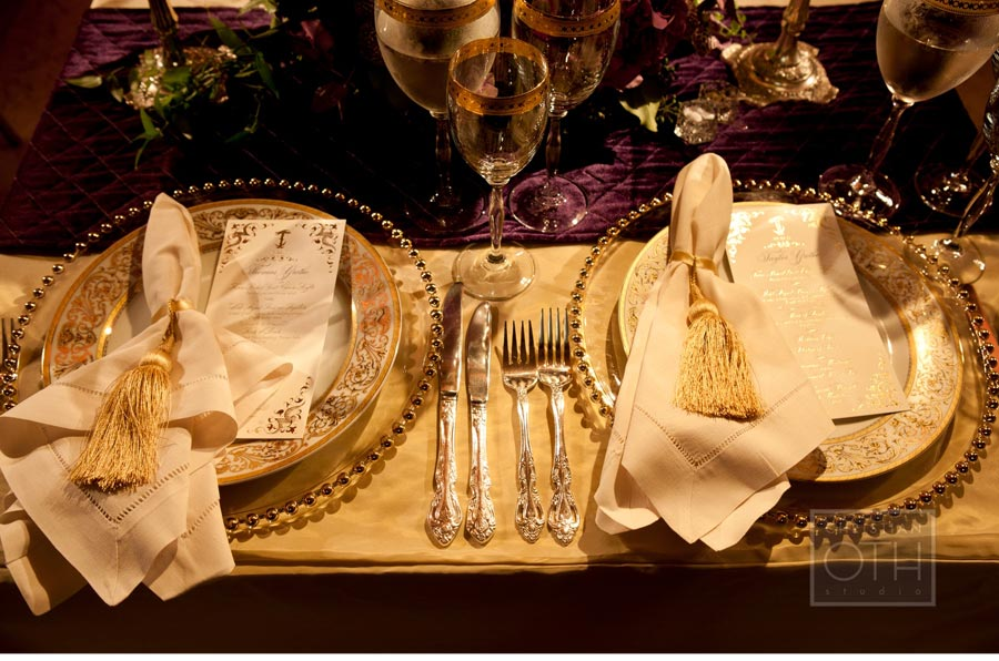 Our Muse - Luxurious Regal Wedding - Be inspired by Taylor & Thomas's luxurious, regal wedding - wedding, menus, escort cards