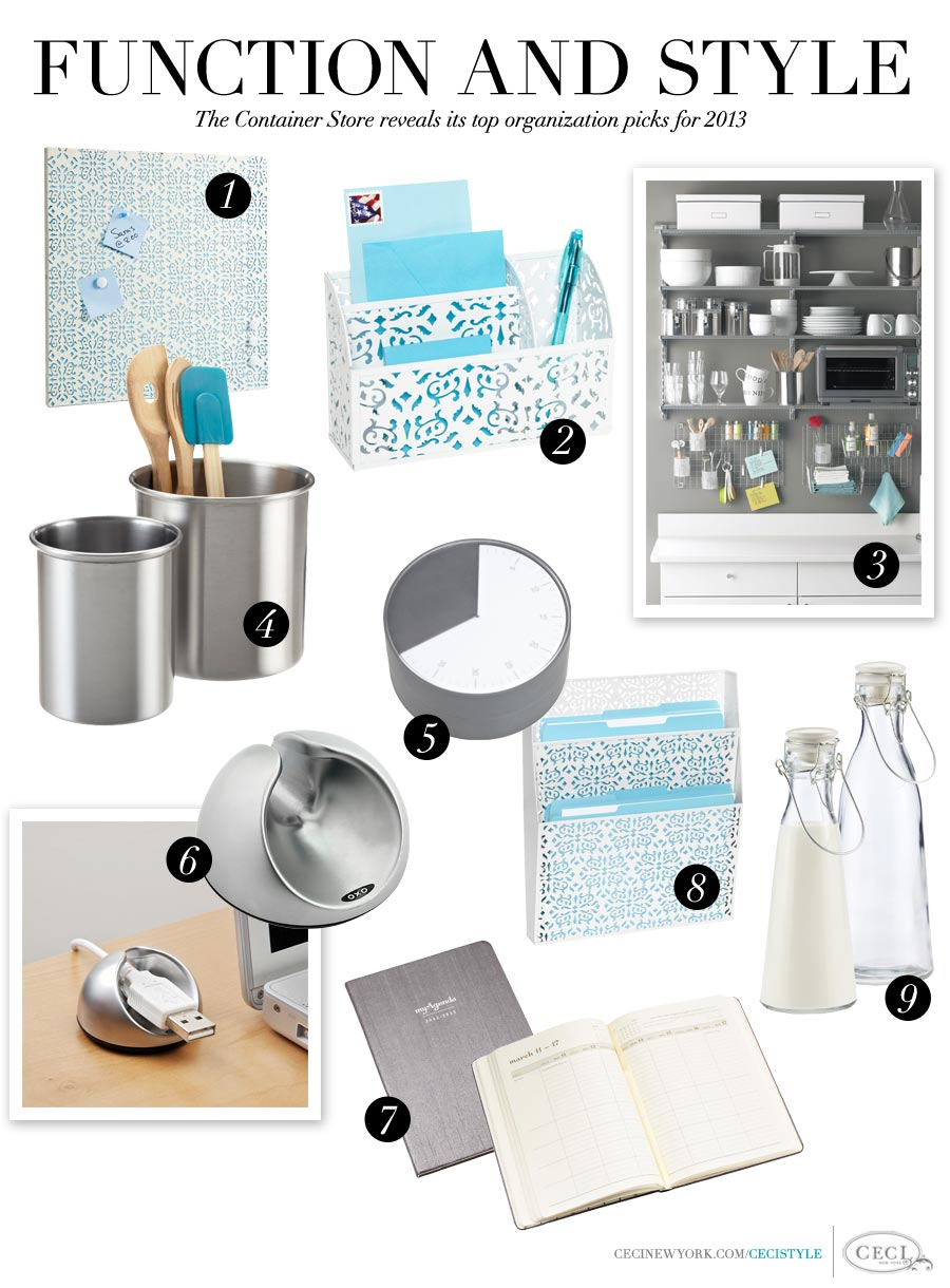 Function and Style - The Container Store reveals its top organization picks for 2013