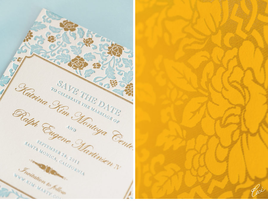 Luxury Wedding Invitations by Ceci New York - Our Muse - Floral-Inspired Wedding - Be inspired by Kim & Marty's sweet Santa Monica wedding - Ceci New York Luxury Wedding Invitations - wedding, invitations, letterpress printing, foil stamping