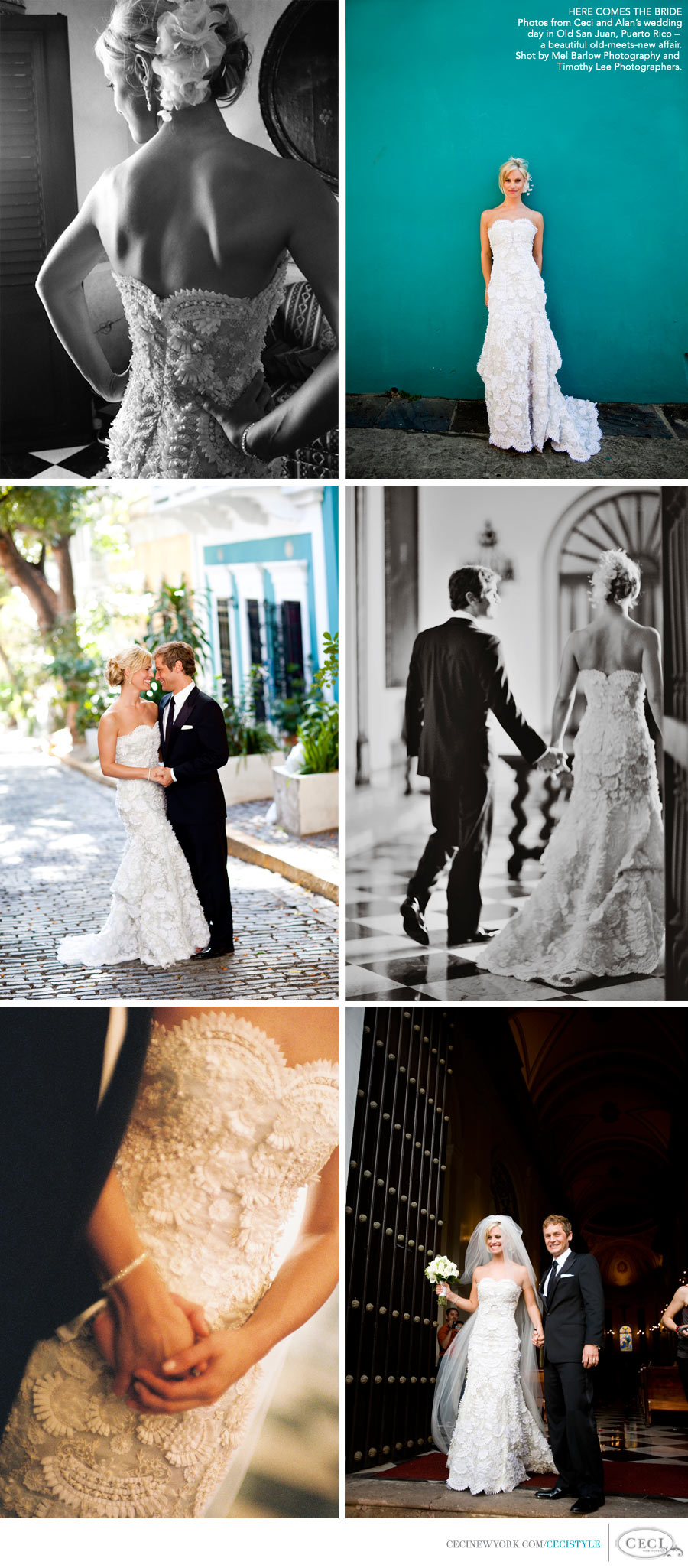 Ceci Johnson of Ceci New York - HERE COMES THE BRIDE: Photos from Ceci and Alan's wedding day in Old San Juan, Puerto Rico – a beautiful old-meets-new affair.