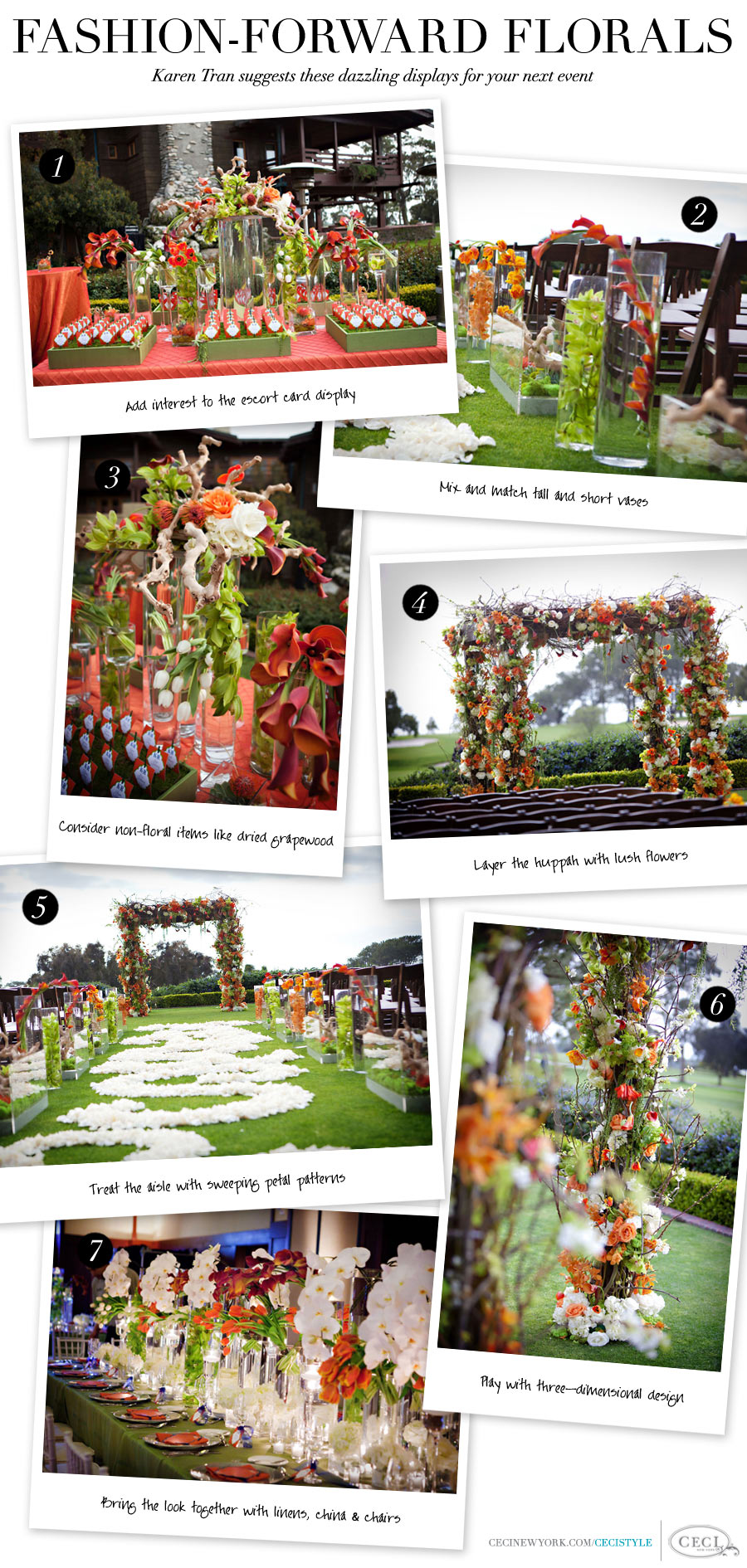 Fashion-Forward Florals - Karen Tran suggests these dazzling displays for your next event