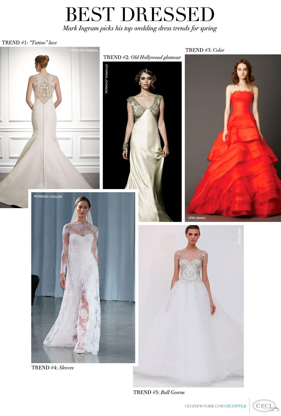 Best Dressed - Mark Ingram picks his top wedding dress trends for spring