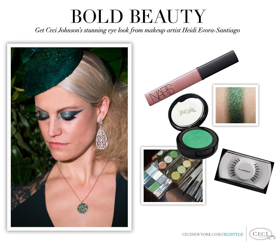 Bold Beauty - Get Ceci Johnson's stunning eye look from makeup artist Heidi Evora-Santiago