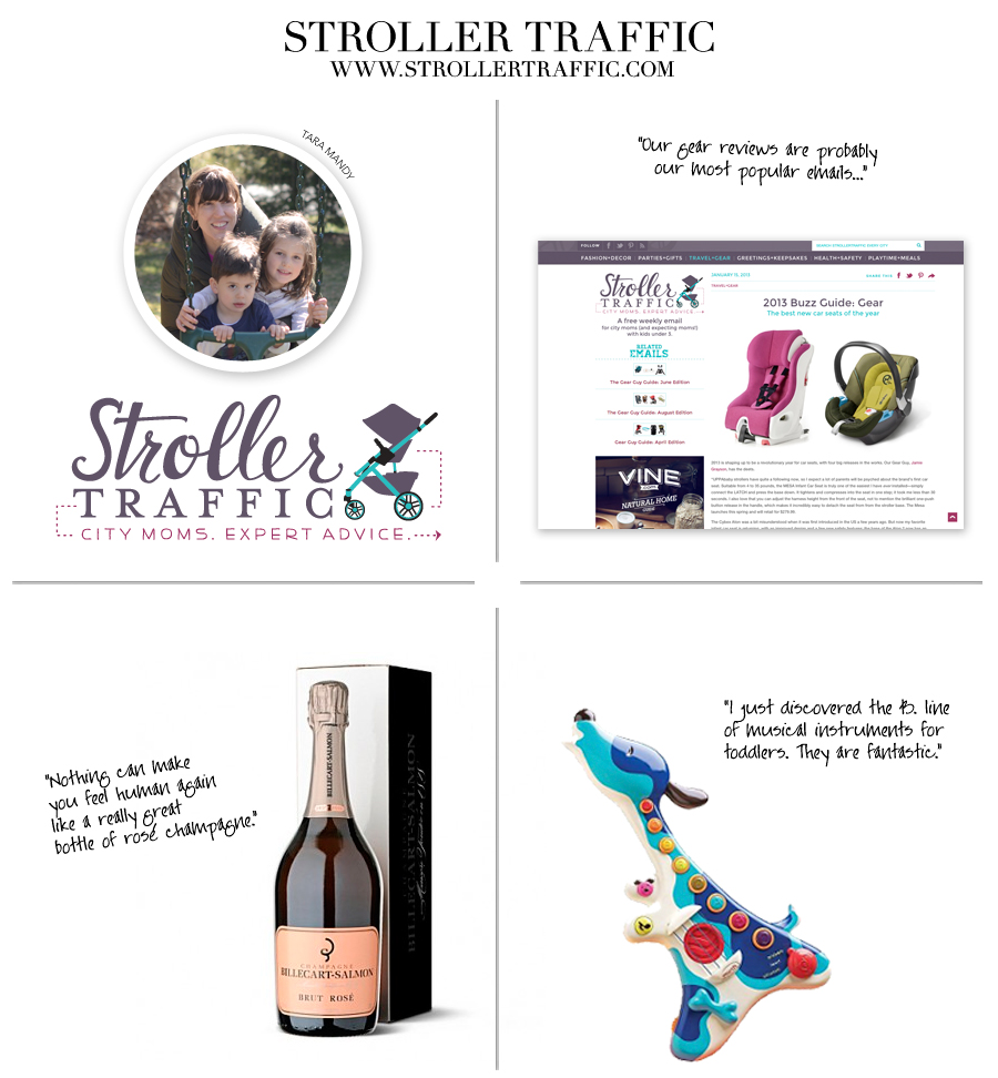 Stroller Traffic - Not-Your-Average Mom Blogs - Ceci Johnson recommends four exceptionally stylish and useful online resources for moms
