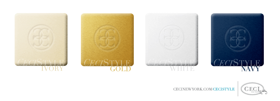 Ceci's Color Stories - Ivory & Navy Wedding Colors - color swatches, ivory, gold, white, navy, wedding