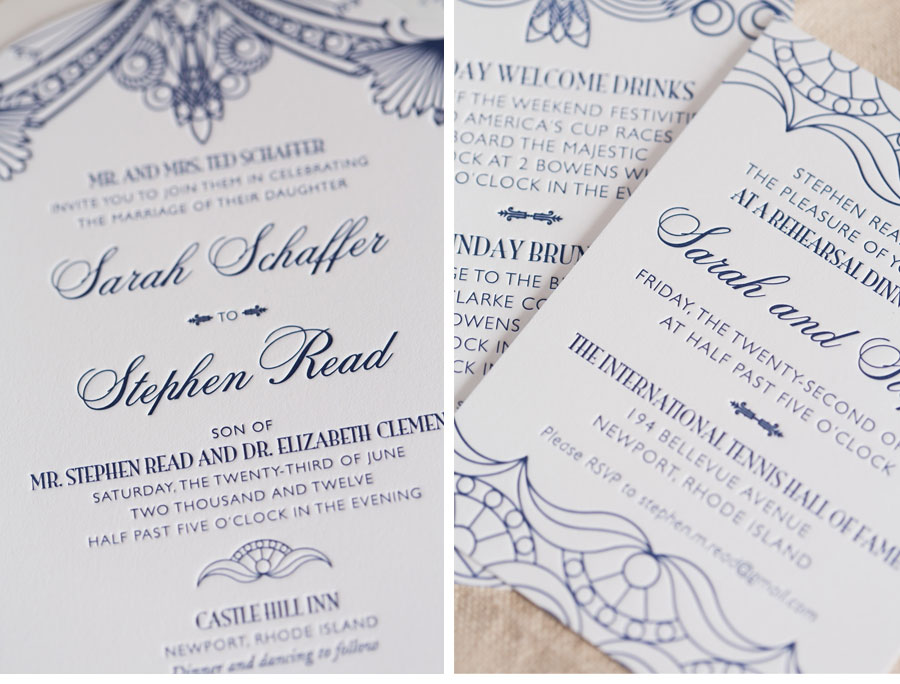 Luxury Wedding Invitations by Ceci New York - Our Muse - 1920's-Inspired Outdoor Wedding - Be inspired by Sarah &#038; Stephens 1920s-style outdoor wedding - Ceci New York Luxury Wedding Invitations - wedding, letterpress printing, invitations