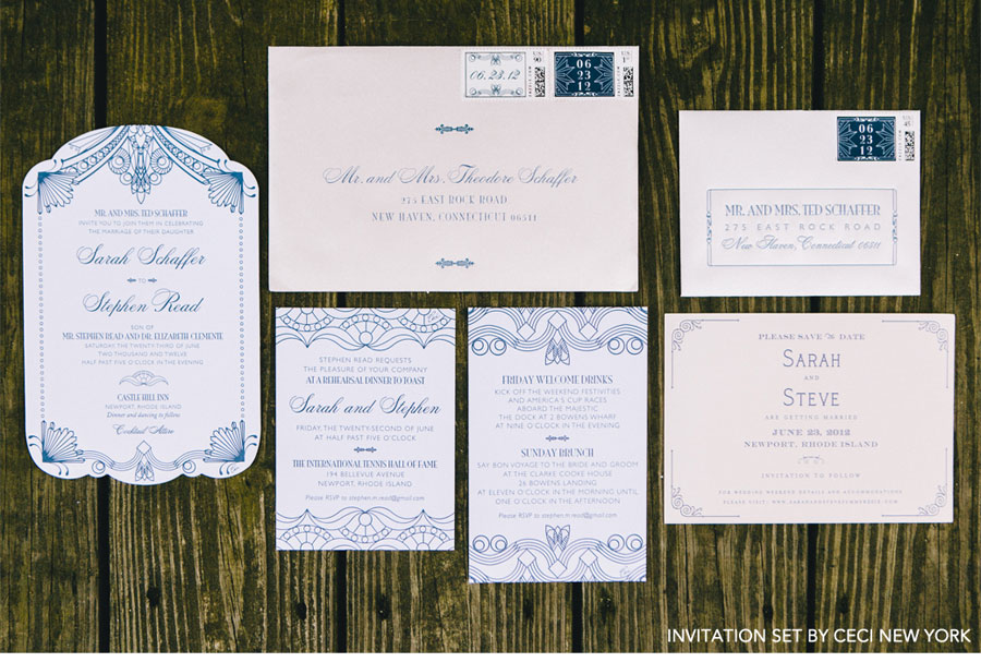 Our Muse - 1920's-Inspired Outdoor Wedding - Be inspired by Sarah &#038; Stephens 1920s style outdoor wedding - wedding, invitions