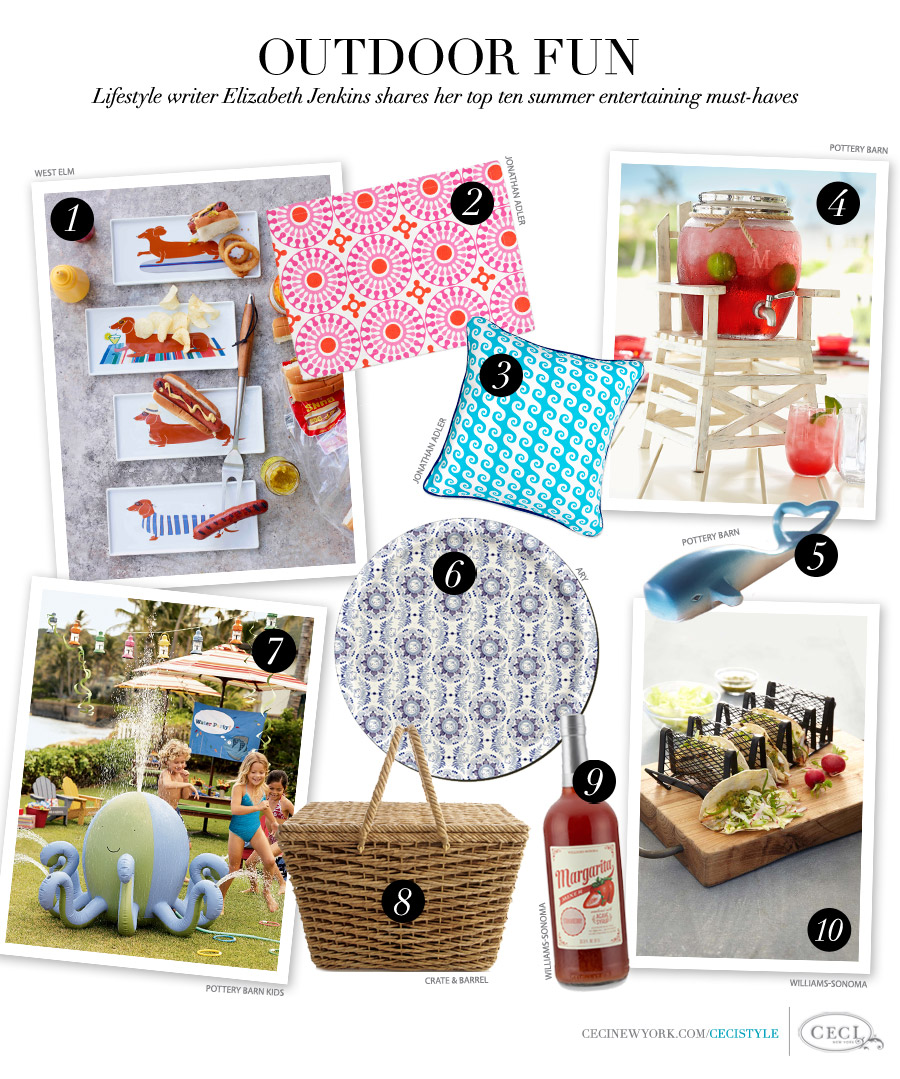Outdoor Fun - Lifestyle writer Elizabeth Jenkins shares her top ten summer entertaining must-haves