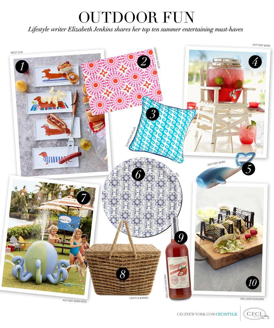 Outdoor Fun - Lifestyle writer Elizabeth Jenkins shares her top ten summer entertaining must-haves