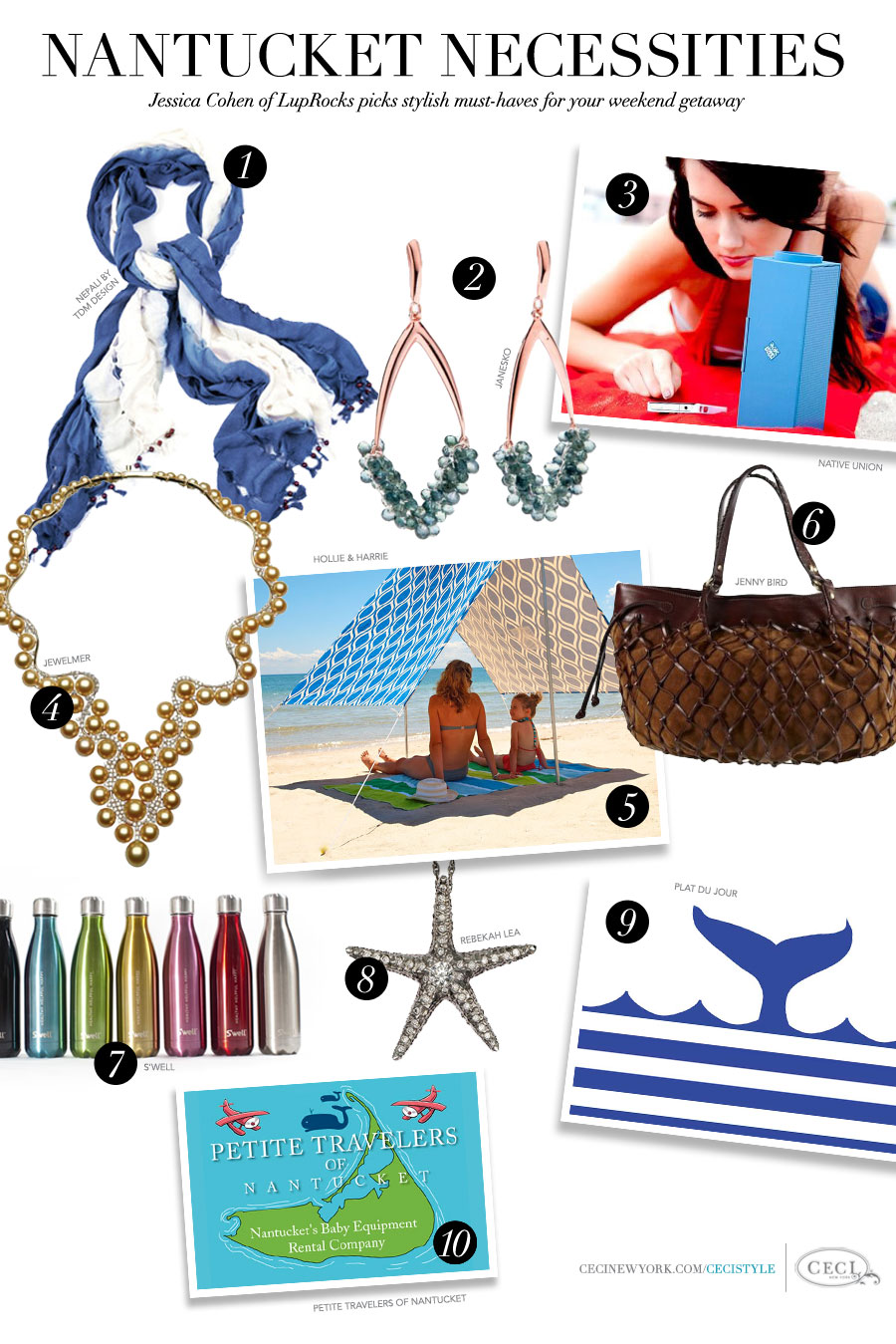Nantucket Necessities - Jessica Cohen of LupRocks picks stylish must-haves for your weekend getaway
