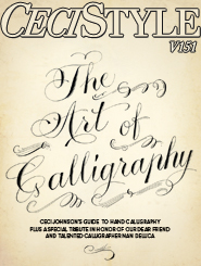 CeciStyle Magazine V151: The Art of Calligraphy