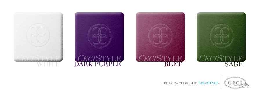 Ceci's Color Stories - Sage & Dark Purple Wedding Colors - color swatches, white, dark purple, beet, sage, wedding