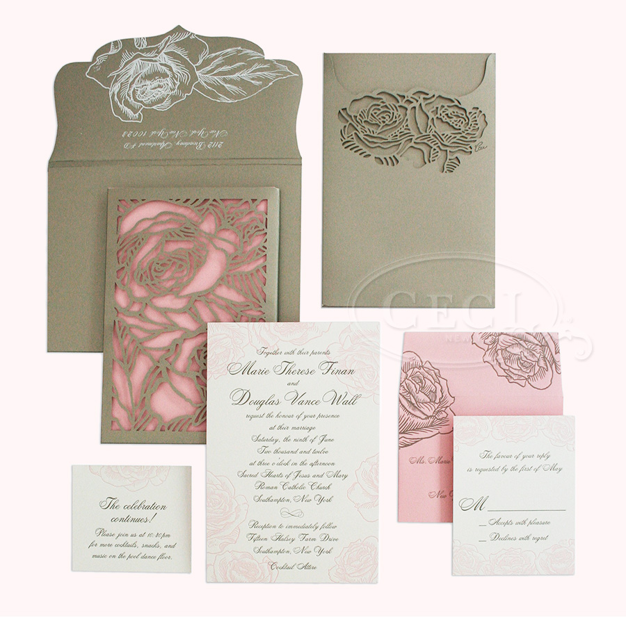 Ceci New York Wedding Invitations is good invitations design