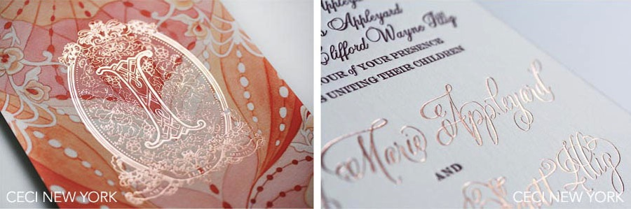 Luxury Wedding Invitations by Ceci New York - Our Muse - Elegant Watercolor Wedding - Be inspired my Amy & Michael's elegant watercolor wedding - Ceci New York Luxury Wedding Invitations - letterpress printing, foil printing, watercolor, monogram, wedding, invitations