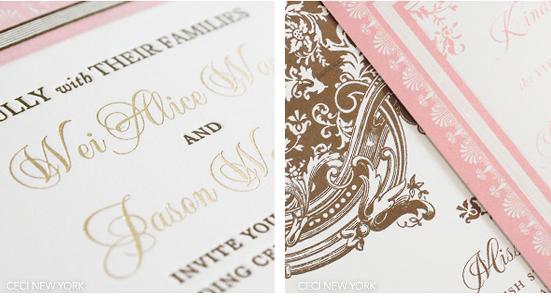Luxury Wedding Invitations by Ceci New York - Our Muse - Elegant Ornate Wedding - Be inspired by Alice and Jason's ornate, romantic wedding in Napa - Ceci New York Luxury Wedding Invitations - wedding, letterpress, foil printing, invitations