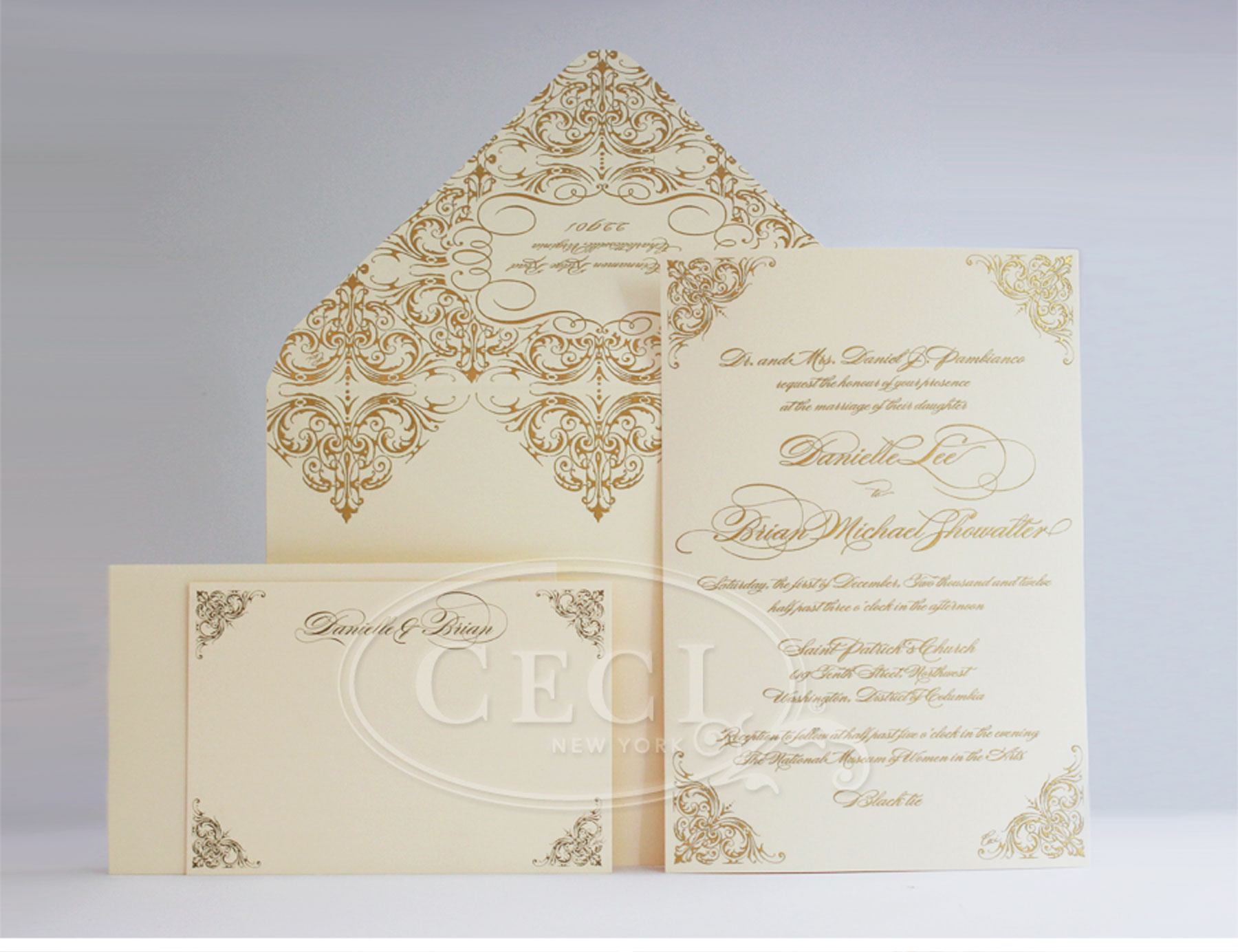 Ivory Wedding Invitations: Elegant Masquerade Wedding: Danielle And