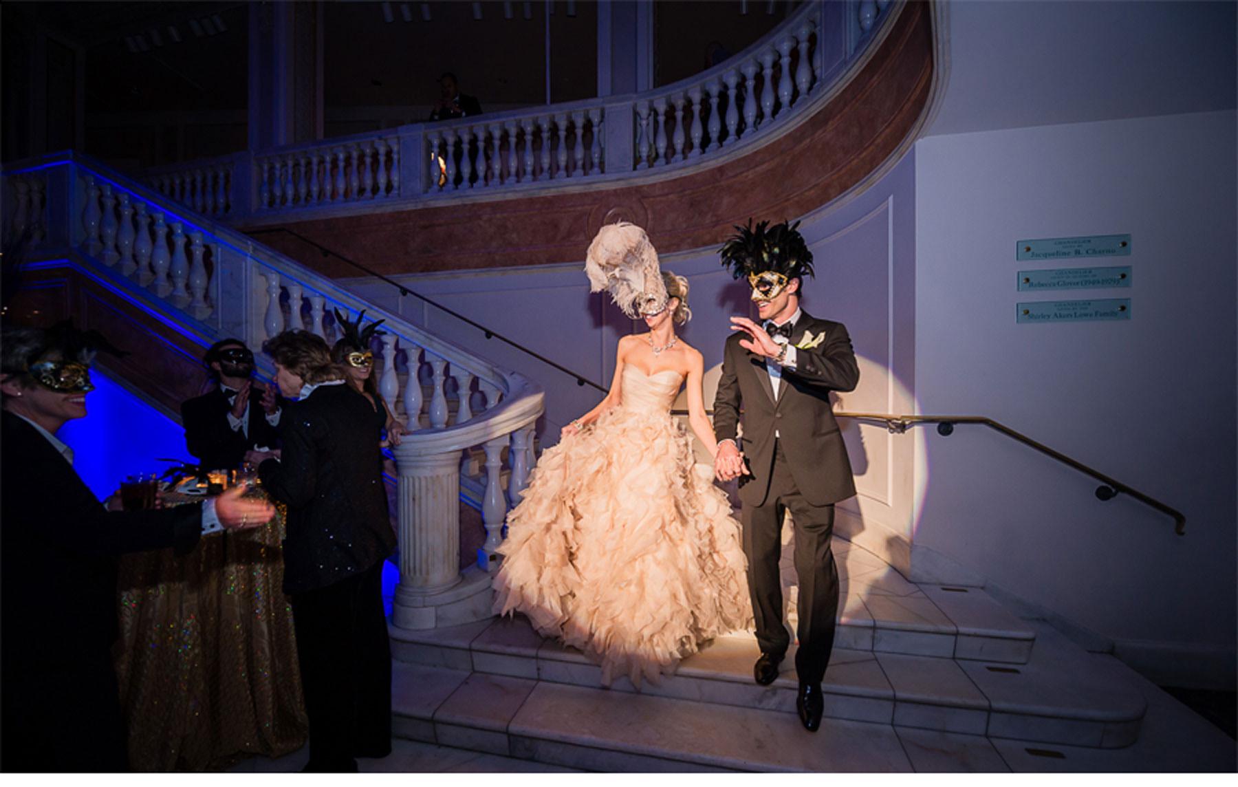 V170 Our Muse Elegant Masquerade Wedding Danielle and