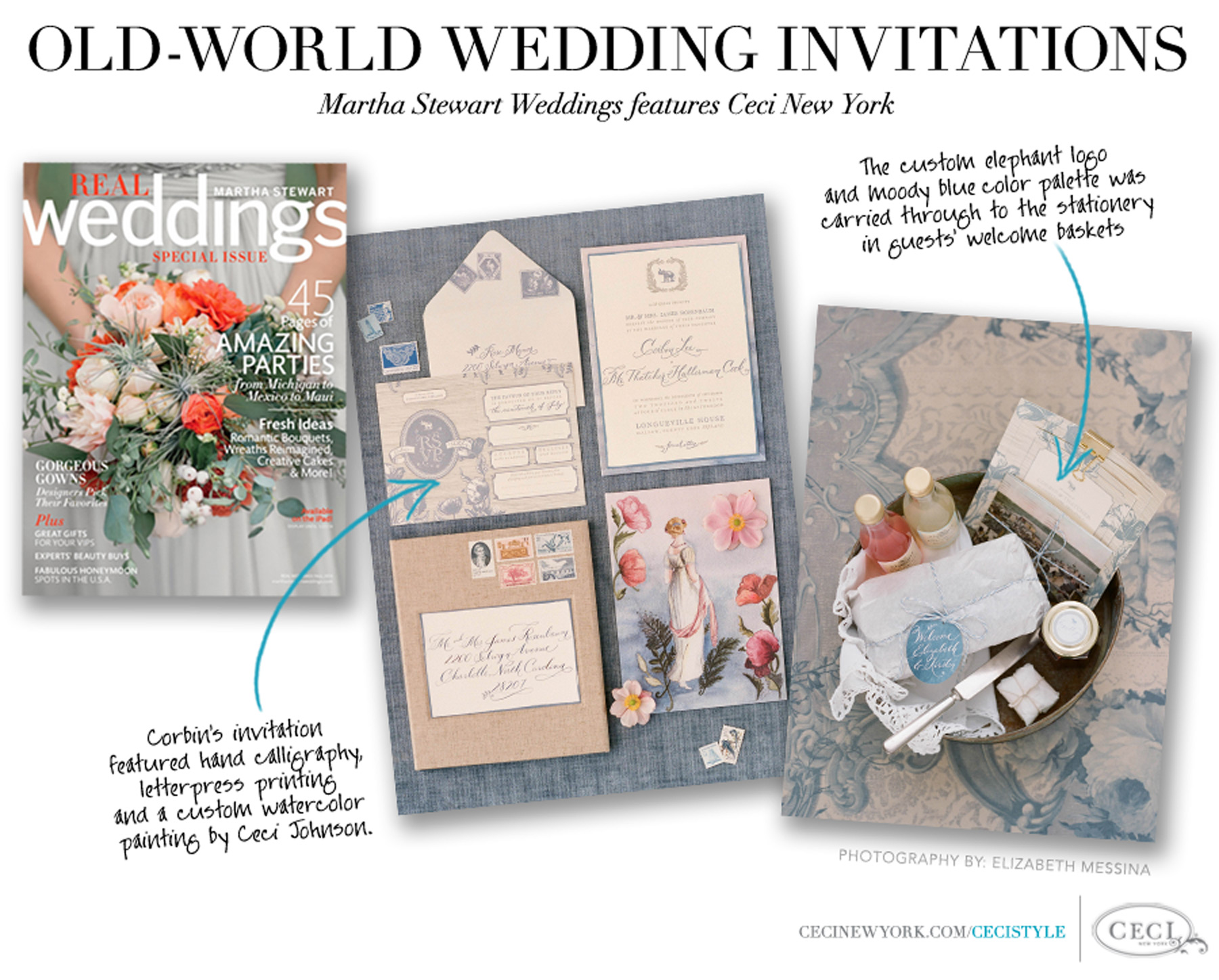 Old-World Wedding Invitations - Martha Stewart Weddings features Ceci New York