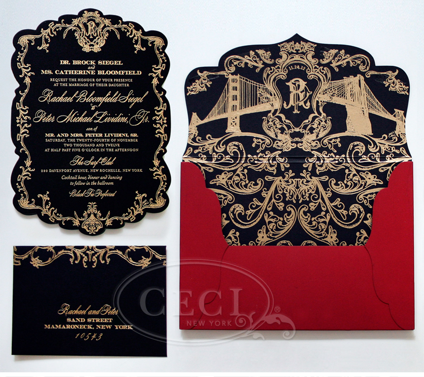 Ceci New York Wedding Invitations is good invitations template