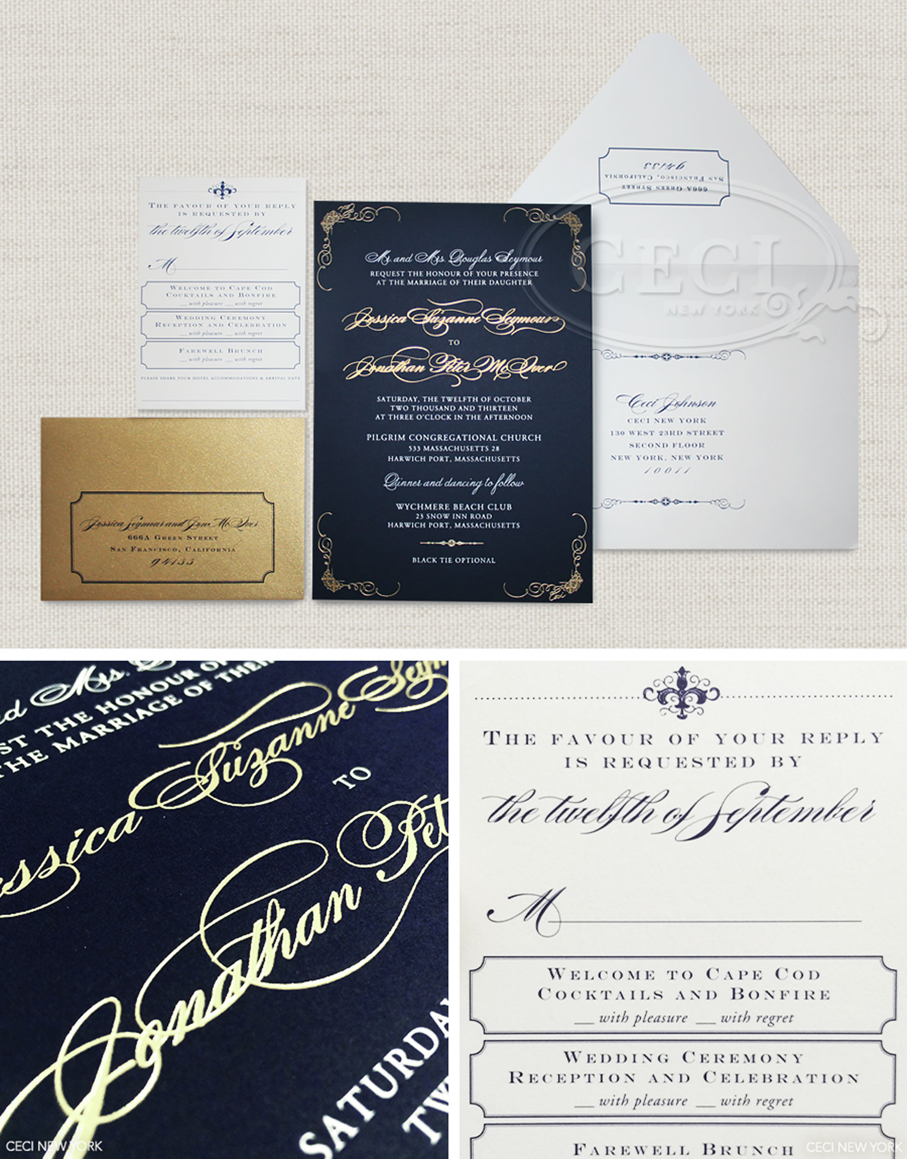 V183: Our Muse - Nautical Navy Wedding: Jessica & Jonathan, Part 1 ...