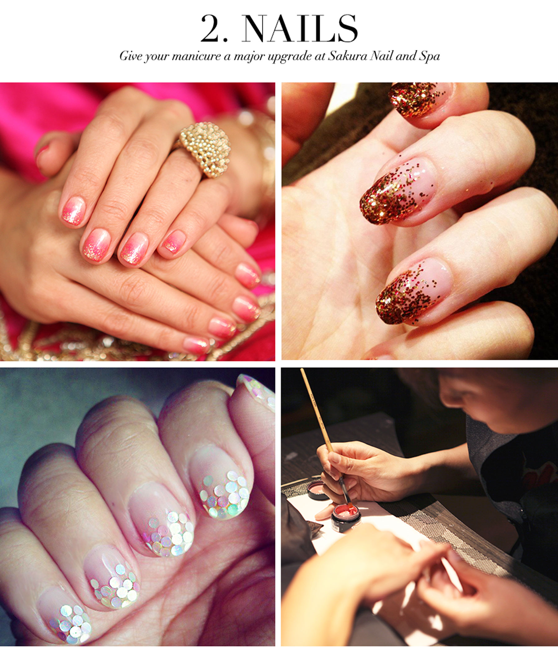 Ceci Johnson's Pamper-Yourself Picks - Nails - Give your manicure a major upgrade at Sakura Nail and Spa