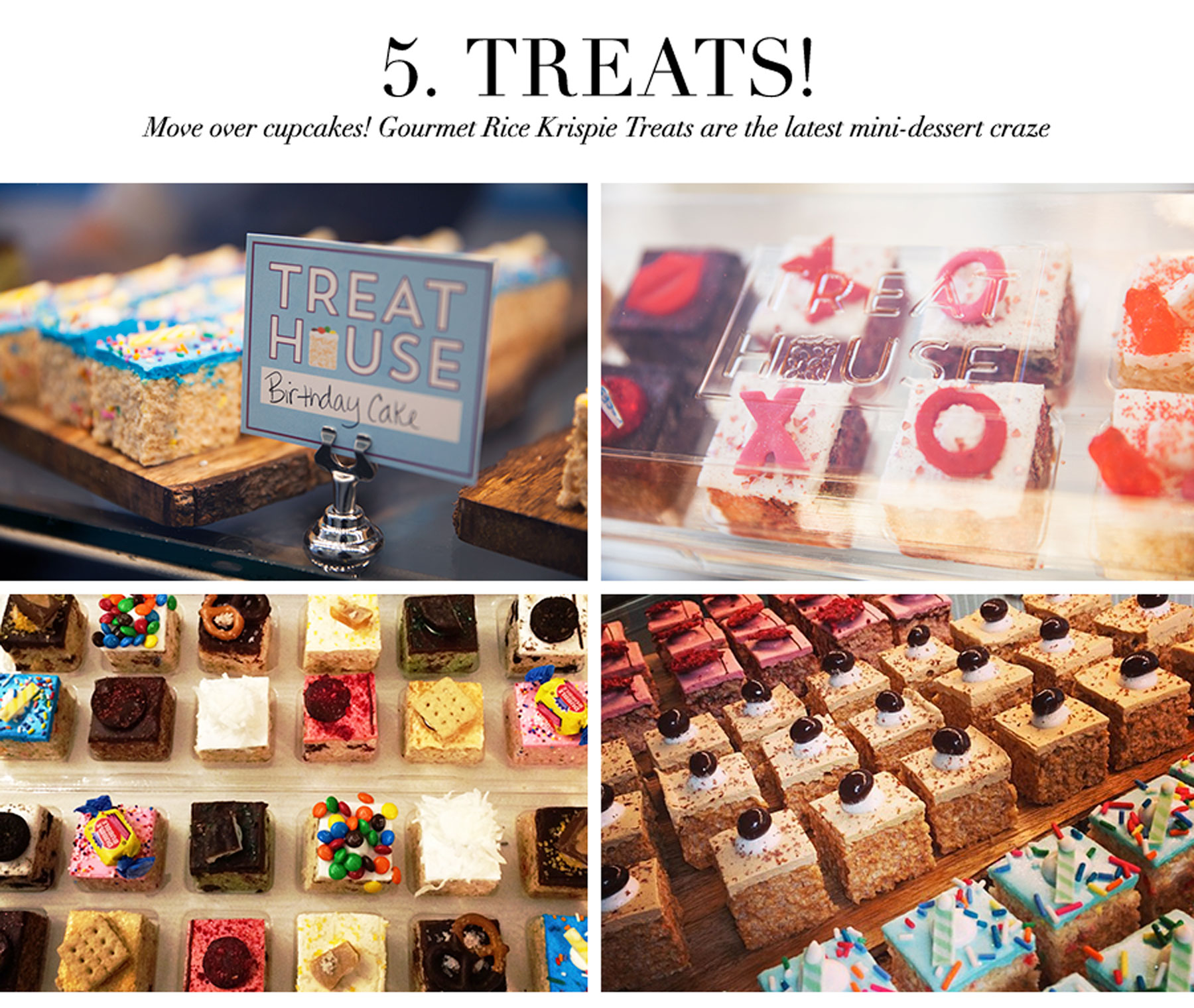 Ceci Johnson's Pamper-Yourself Picks - Treats - Move over cupcakes! Gourmet Rice Krispie Treats are the latest mini-dessert craze