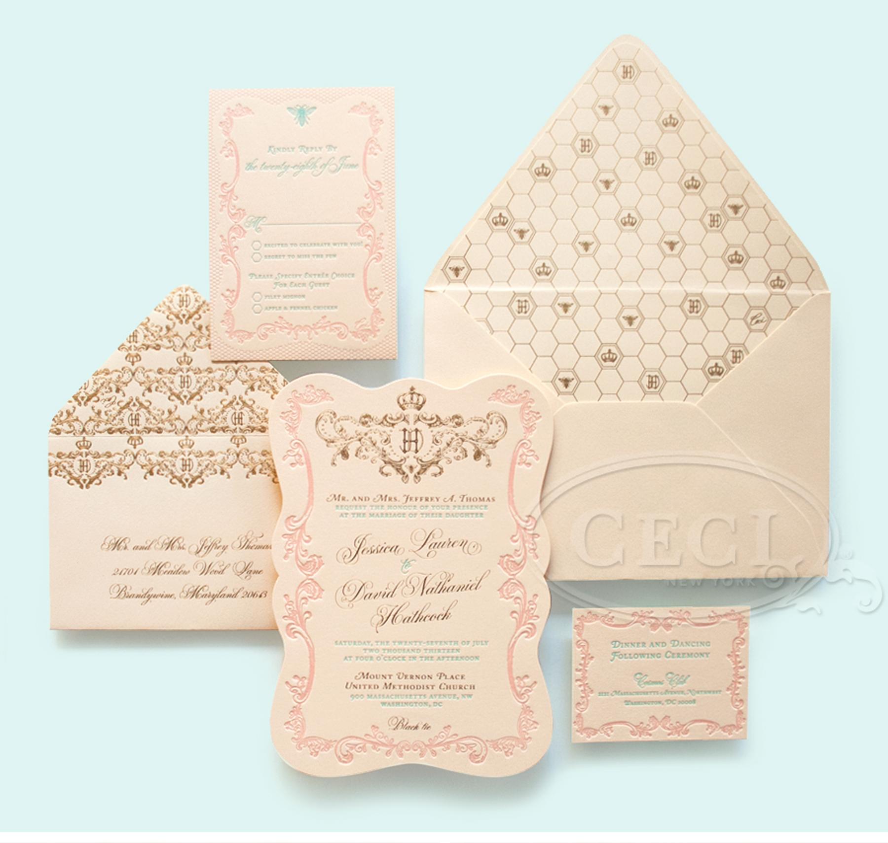 Die Cut Wedding Invites was luxury invitations sample