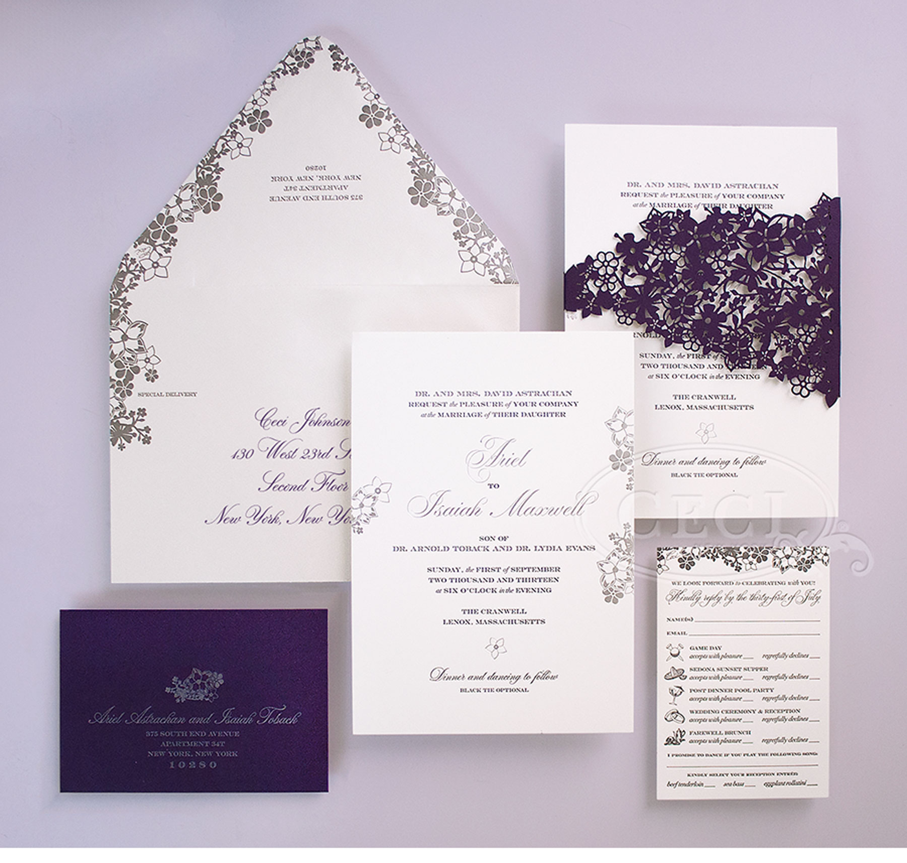 Purple And Silver Wedding Invitations 020 - Purple And Silver Wedding Invitations