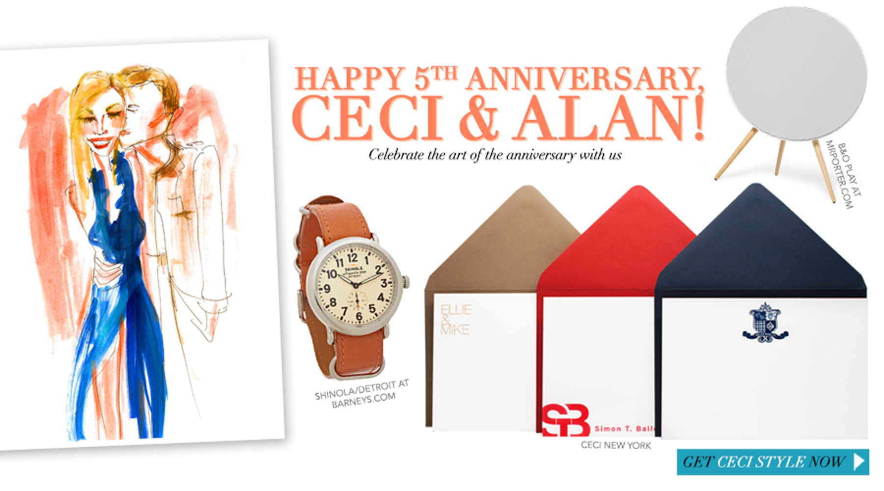 Happy 5th Anniversary, Ceci & Alan! - Celebrate the art of the anniversary with us