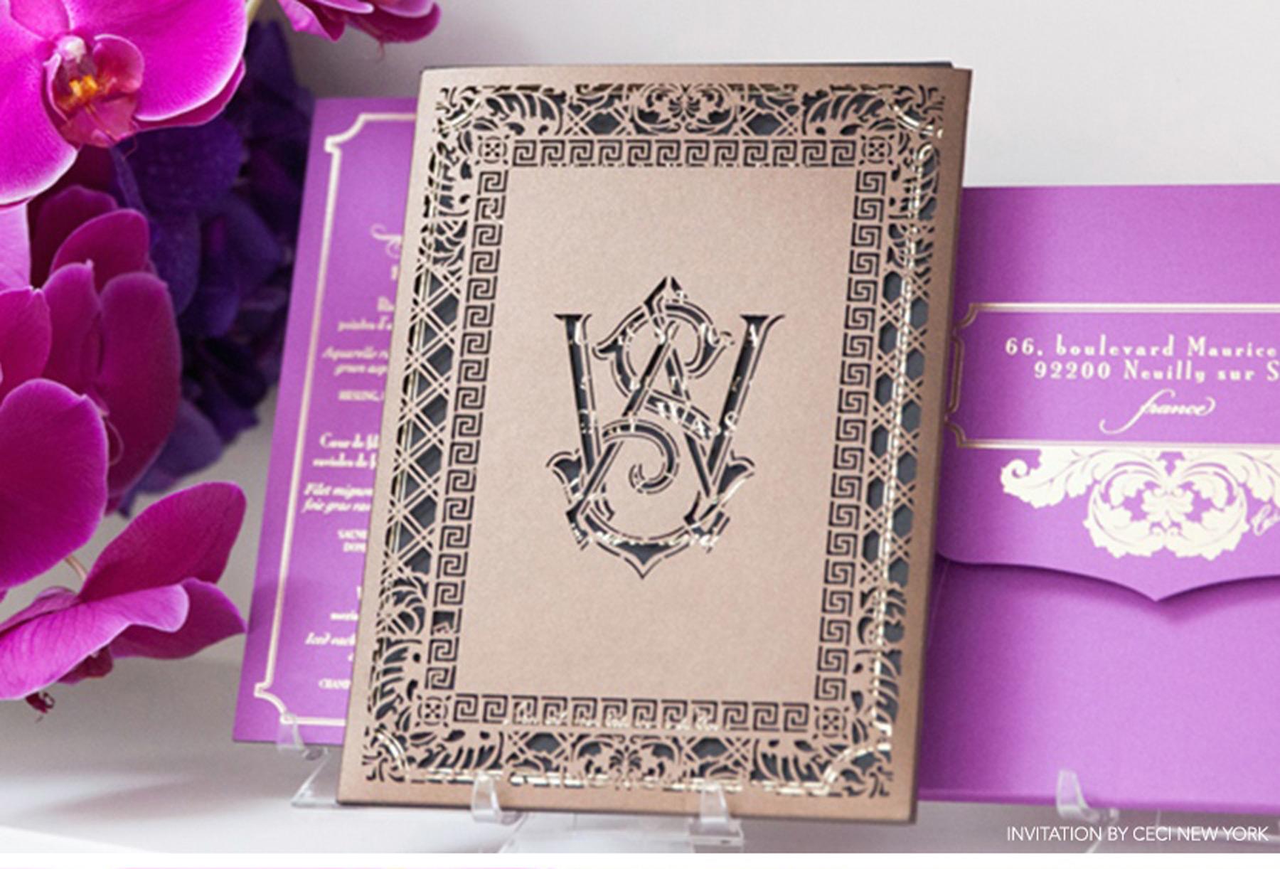 Luxury Wedding Invitations Online: Paris Luxury Wedding: Lucas & Thierry