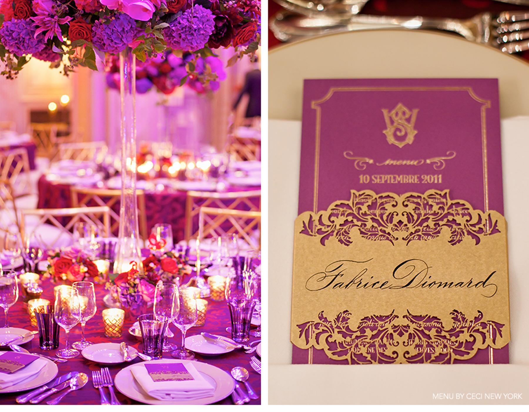 Purple plus gold equals elegance myweddingfavors wedding tips purple plus gold equals elegance junglespirit Choice Image