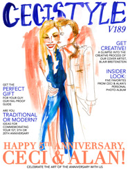 CeciStyle Magazine V189: Happy 5th Anniversary, Ceci & Alan!