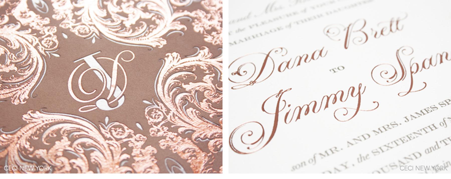 Wedding Invitations Rose: Romantic Rose Gold Wedding: Dana & Jimmy