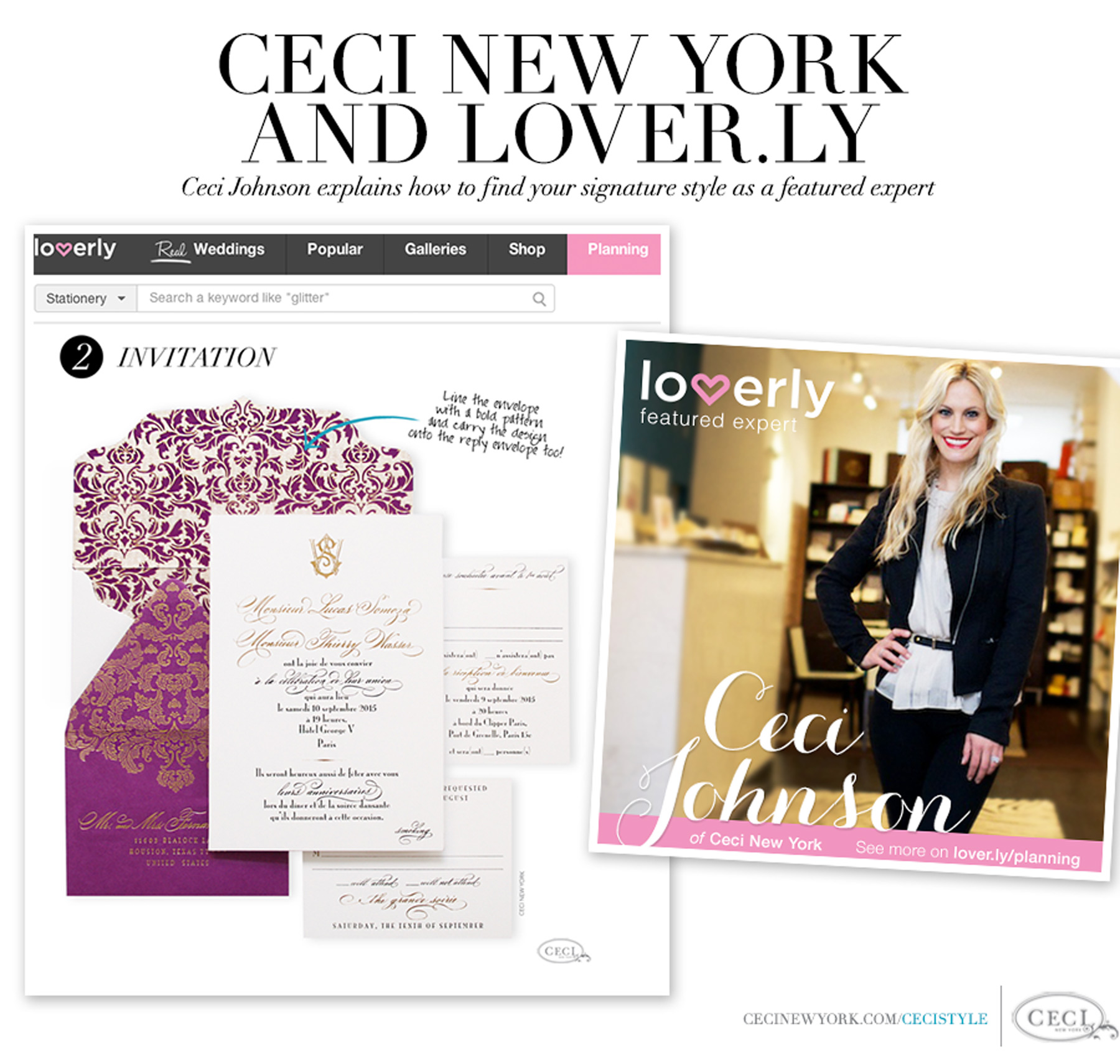 Ceci New York and Lover.ly - Ceci Johnson explains how to find your signature style as a featured expert