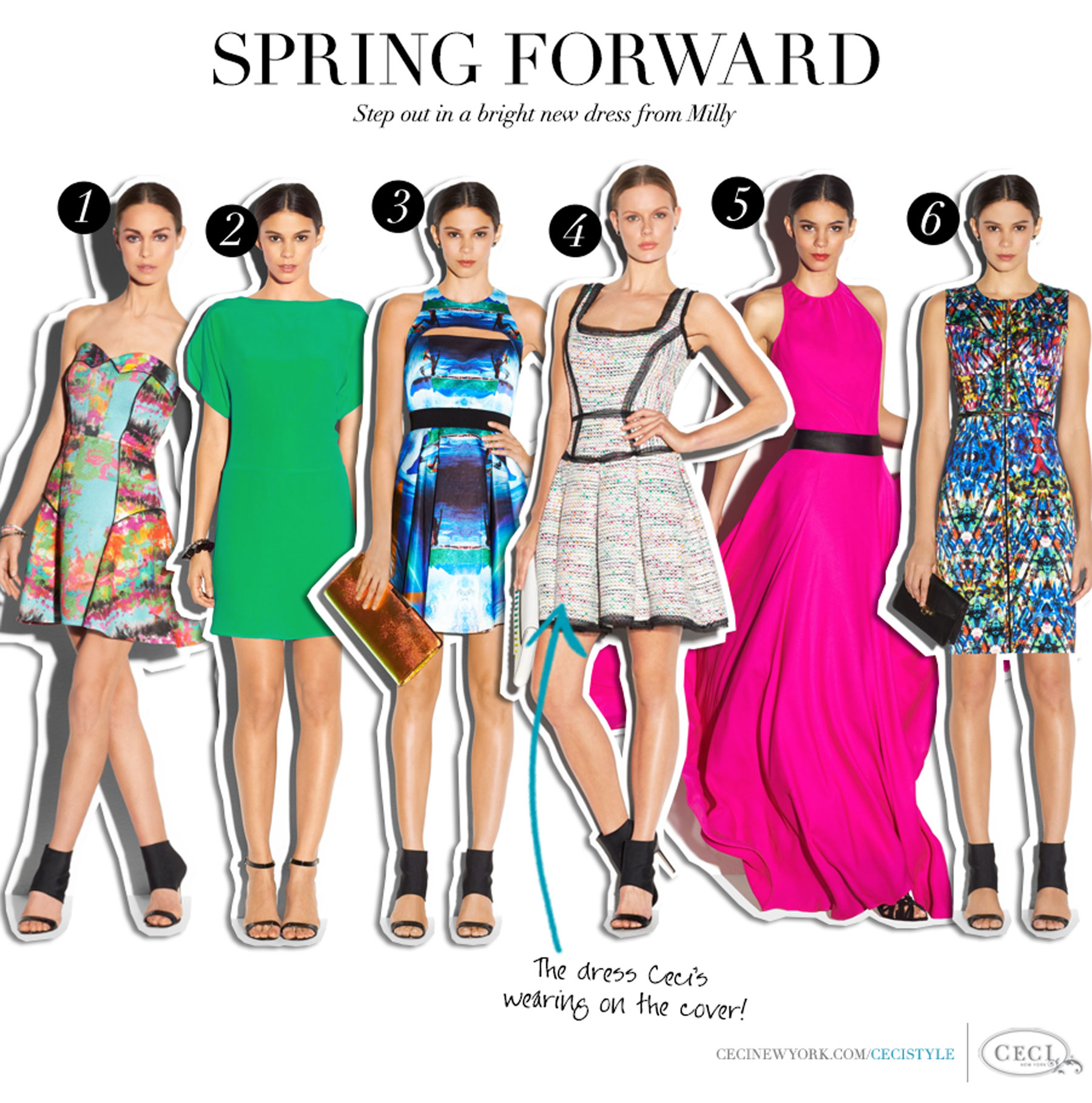 Spring Forward - Step out in a bright new dress from Milly